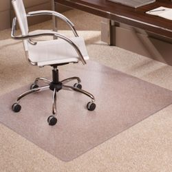 "Low Pile Chair Mat 46""W x 60""D for Carpet Floors"