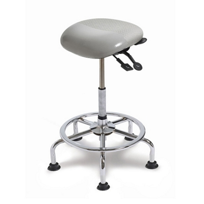 Small Seat Polyurethane Sit-Stand Stool with No Slip Strip