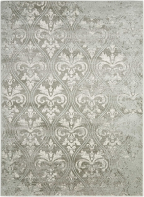 "Neutral Damask 7'10"" x 10'"