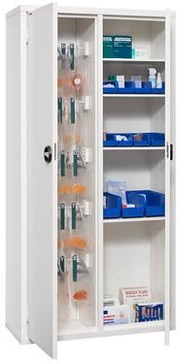 """Medical Storage Cabinet with Digital Card Reader - 78""""H"""