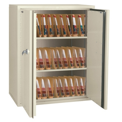 "Fireproof Medical Storage Cabinet 44""H"