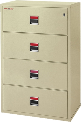 "Four Drawer Fireproof Lateral File - 38""W"