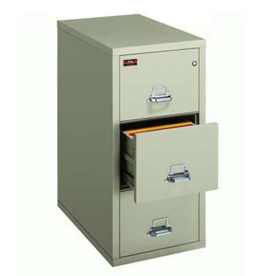 Two-Hour Rated Fireproof Three Drawer Vertical Letter File