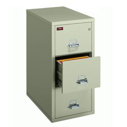 Two-Hour Rated Fireproof Three Drawer Vertical Legal File
