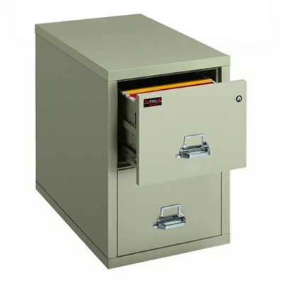 Two-Hour Rated Fireproof Two Drawer Vertical Letter File