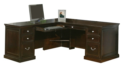 Espresso L-Desk with Left Return