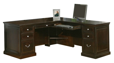 Espresso L-Desk with Right Return