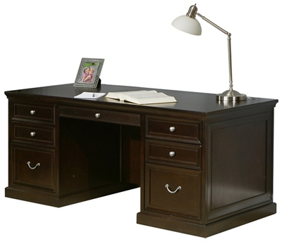 "Espresso 72"" Wide Double Pedestal Executive Desk"