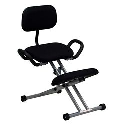 Kneel Chair with Handles and Glides
