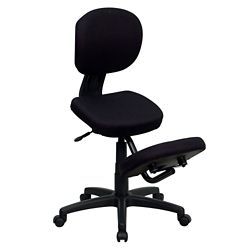 Kneel Chair with Backrest and Five Star Base