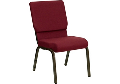"Fabric Wing-Back Church Chair - 18.5""W"
