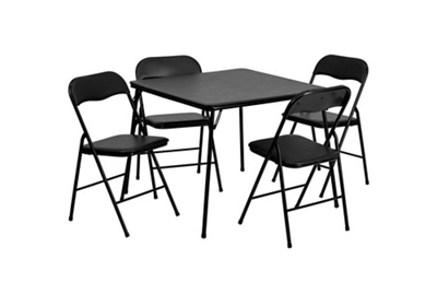 Square Folding Table with Four Folding Chairs