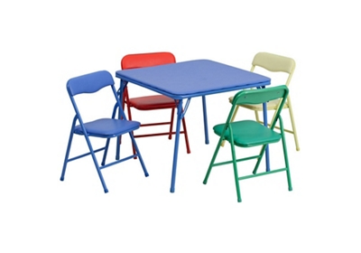 Phenomenal Child Size Square Folding Table With Four Folding Chairs By Machost Co Dining Chair Design Ideas Machostcouk