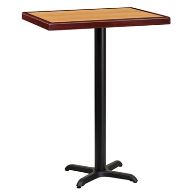 "Bar Height Table with X-Base - 30""W x 24""D"