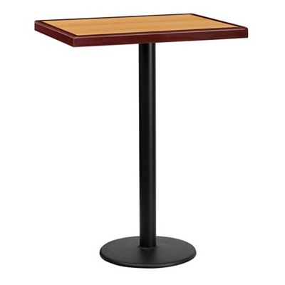 "Bar Height Table with Round Base - 30""W x 24""D"