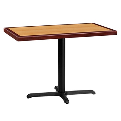 "Standard Height Table with X Base - 42""W x 24""D"