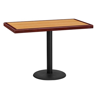 "Standard Height Table with Round Base - 42""W x 24""D"