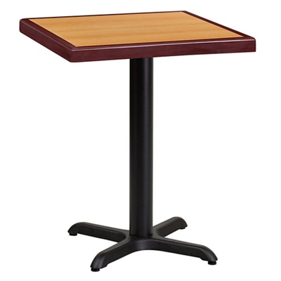 "Standard Height Table with X Base - 24""W x 24""D"