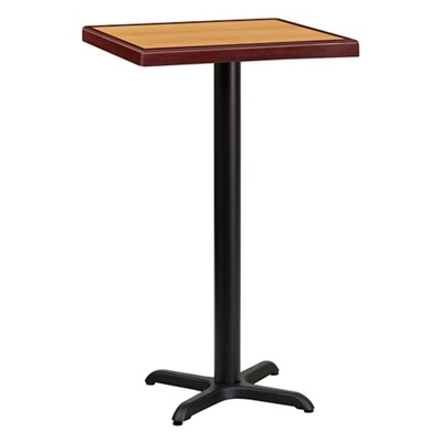 "Bar Height Table with X-Base - 24""W x 24""D"