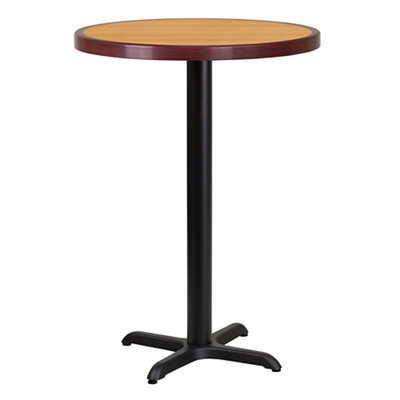 """Bar Height Table with X Base - 30""""DIA"""