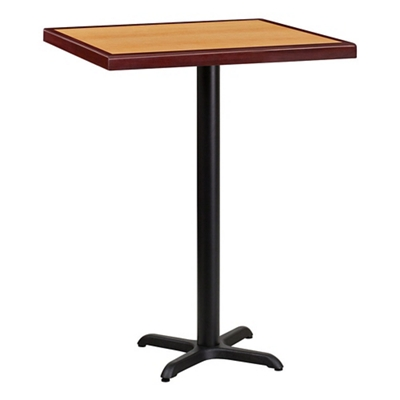 "Bar Height Table with X-Base - 30""W x 30""D"