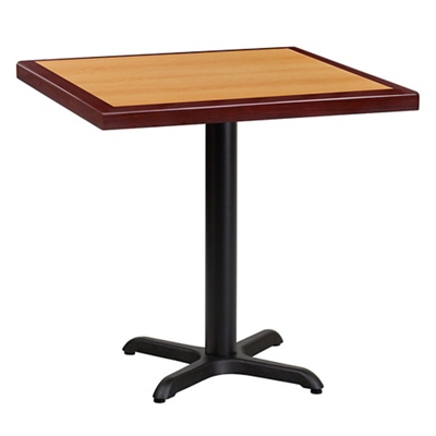 "Standard Height Table with X Base - 30""W x 30""D"
