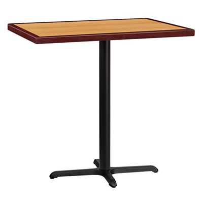 """Bar Height Table with X-Base - 42""""W x 30""""D"""