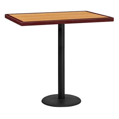 "Bar Height Table with Round Base - 42""W x 30""D"