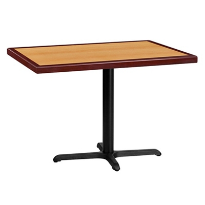 """Standard Height Table with X Base - 42""""W x 30""""D"""