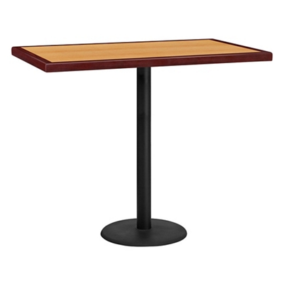 "Bar Height Table with Round Base - 48""W x 30""D"