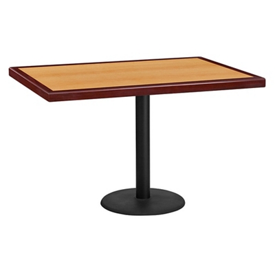 "Standard Height Table with Round Base - 48""W x 30""D"