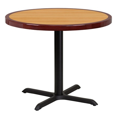 """Standard Height Table with X Base - 36""""DIA"""