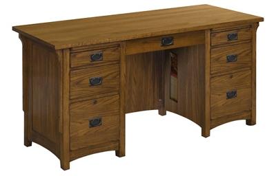 """Double Pedestal Desk 62""""W x 26""""D"""