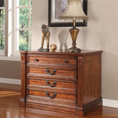 """Two Drawer Antique Finish Lateral File - 40""""W"""