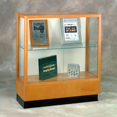 Counter Height Classic Display Case with Fabric Backing