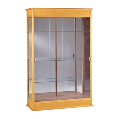 Traditional Display Case with Mirror Backing