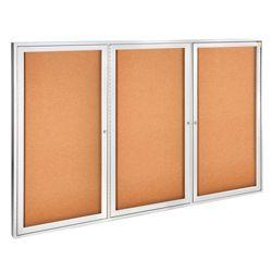 "Aluminum Frame Corkboard - 72"" x 48"""