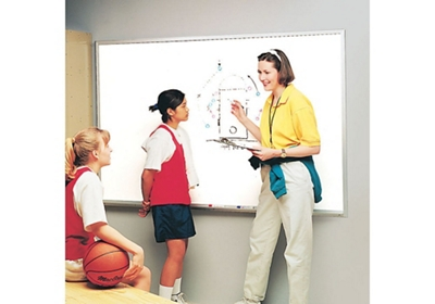 Melamine White Board with Aluminum Frame 12w'x4'h