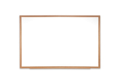 Porcelain White Board with Solid Oak Frame 6'W x 4'H