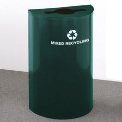 Half Round Painted Mixed Recycling Bin