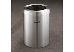 "Waste Unit in Satin Aluminum Finish 15"" Diameter"