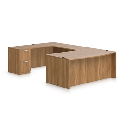 Contemporary Bow Front U-Desk