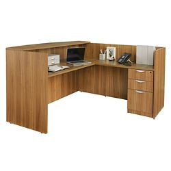 "Contemporary Reception Desk - 71"" x 72"""