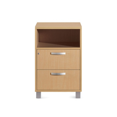 "Two Drawer Bedside Cabinet - 19.25""W"