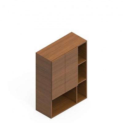 """44""""H Three-Shelf Asymmetrical Bookcase"""