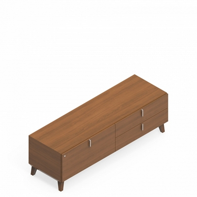 "Storage Credenza with Drawers - 64""W x 20""D"