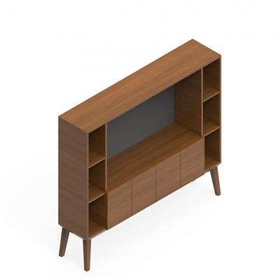 """Media Cabinet with Storage - 64""""W x 14.5""""D"""