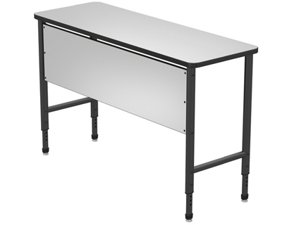 "Stand Up Desk with Marker Board Top and Panel - 60""W x 24""D"