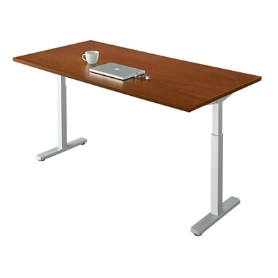 "Contemporary Height Adjustable Table - 72""W x 30""D"