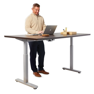 """Contemporary Height Adjustable Table - 72""""W x 24""""D"""